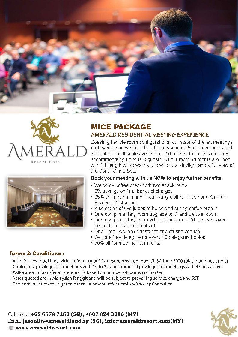 Amerald Hotel Residential Meeting Package