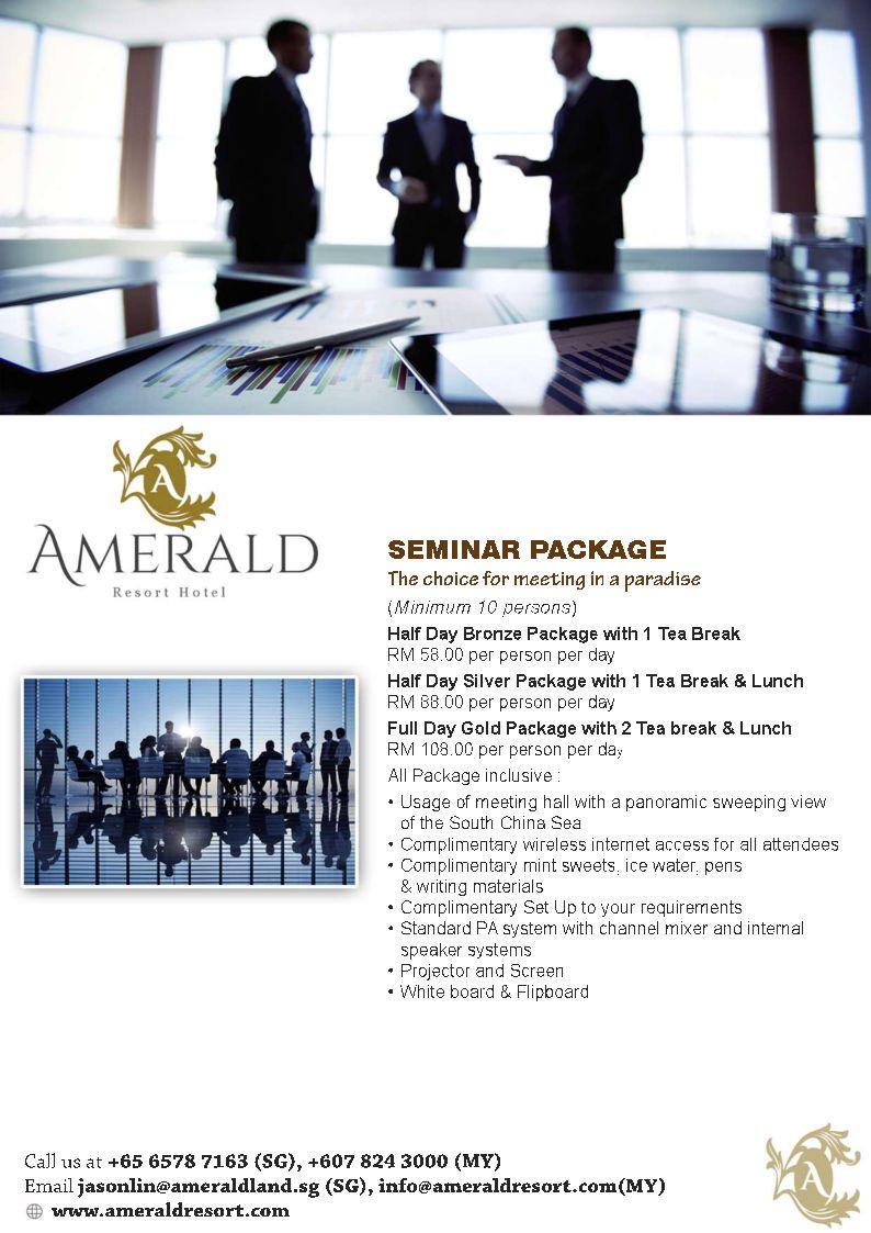 Amerald Hotel Seminar Package