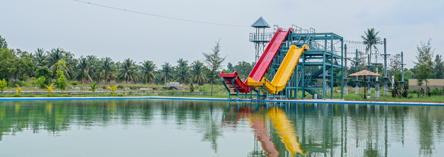 facitity waterslide water park desaru johor malaysia